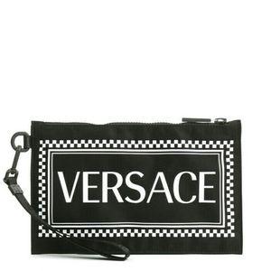 Versace 范思哲男女款尼龙字母手拿包