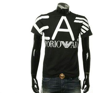 Emporio Armani阿玛尼男士个性印花短袖T恤