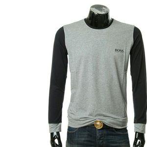 HUGO BOSS雨果博斯Hugo Boss 黑标男士拼色长袖T恤