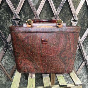 Etro vintage 爱特罗中古玳瑁手提包