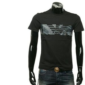 Emporio Armani阿玛尼 男士休闲印花短袖T恤