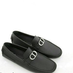 Dior 迪奥男士CD真皮豆豆鞋休闲皮鞋
