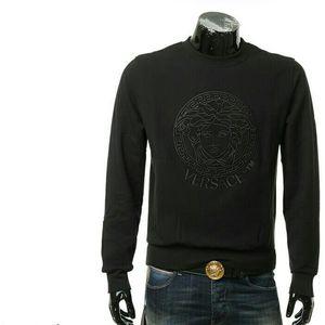 Versace范思哲男士刺绣美杜莎毛里保暖卫衣