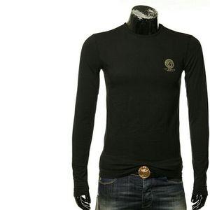 Versace Jeans范思哲美杜莎男士修身打底长袖T恤