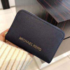 Michael kors 迈克.科尔斯深蓝色小零钱包