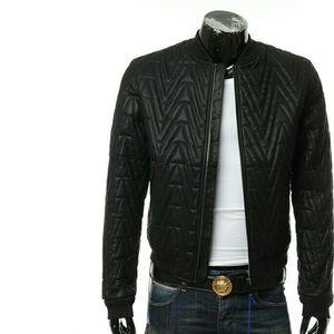 Versace Jeans VJ 范思哲 男士皮衣夹克外套