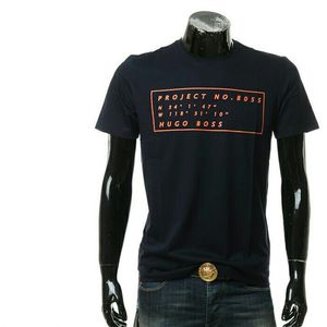 HUGO BOSS雨果博斯黑标男士修身圆领短袖T恤