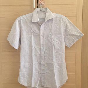 Canali百搭休闲纯棉衬衫