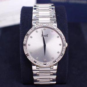 PIAGET 伯爵DANCER与传统系列18K白金镶钻女士石英腕表