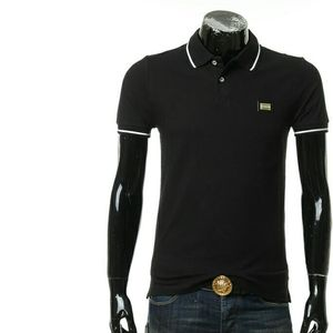Love Moschino莫斯奇诺男士铁标短袖POLO衫有黑色