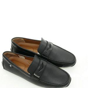 BALLY 巴利男士真皮一脚蹬开车鞋休闲鞋皮鞋