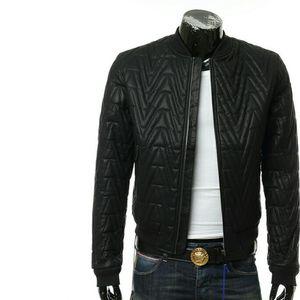 Versace Jeans VJ范思哲男士皮衣夹克外套