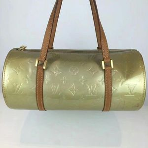 Louis Vuitton 路易·威登漆皮圆桶手提包