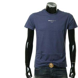 Versace Jeans范思哲男士圆领修身短袖T恤