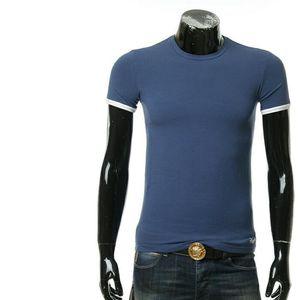 Ermenegildo Zegna 杰尼亚男士修身圆领短袖T恤