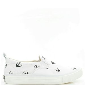 Alexander McQueen 亚历山大·麦昆男士燕子帆布一脚蹬休闲鞋