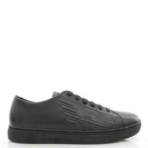 Emporio Armani EA 阿玛尼 男士真皮低帮休闲板鞋