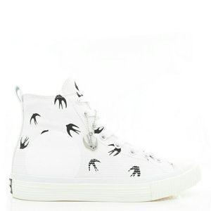 Alexander McQueen 亚历山大·麦昆男士高帮帆布鞋板鞋