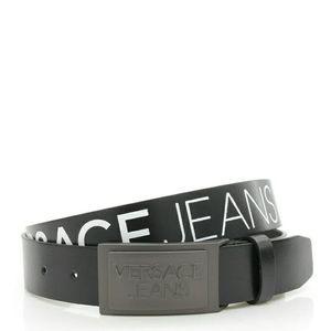 Versace Jeans范思哲男士真皮腰带