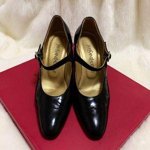 Yves Saint Laurent 伊夫·圣罗兰尖头钻扣名媛高跟鞋