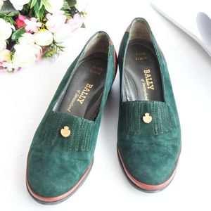 BALLY 巴利XZ09022翻毛翡翠绿皮鞋