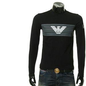 Emporio Armani 安普里奥·阿玛尼男士长袖鹰标修身 T恤