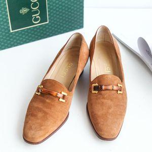 GUCCI 古驰XZ06002浅棕竹节乐福鞋单鞋皮鞋