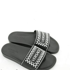 Versace 范思哲男士字母一字拖鞋