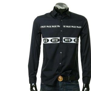 Alexander McQueen亚历山大·麦昆男士休闲长袖衬衫