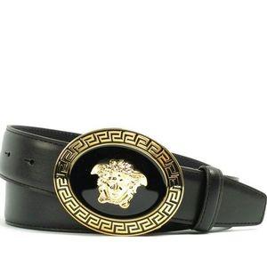 Versace 范思哲男士经典美杜莎真皮皮带
