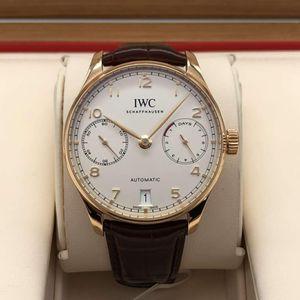IWC 万国葡萄牙系列IW500701玫瑰金自动机械男表