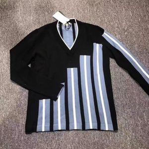 FENDI 芬迪男士拼色长袖针织衫