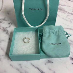 Tiffany & Co. 蒂芙尼18k金拼银镂空爱心戒指
