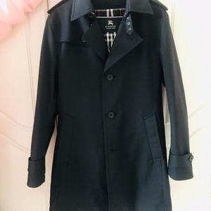 Burberry 博柏利黑色经典款两用风衣