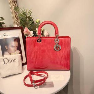 Dior 迪奥蛇皮戴妃手提单肩女包