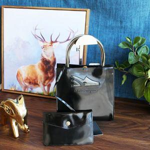 Ferragamo 菲拉格慕巴黎时装走秀款漆皮水晶鞋标手提包