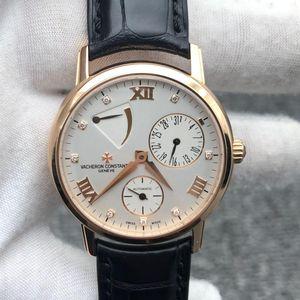 Vacheron Constantin 江诗丹顿传承系列18K玫瑰金镶钻自动机械男士腕表