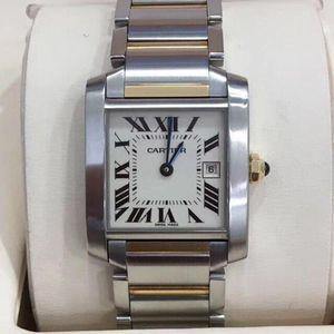 Cartier 卡地亚坦克系列W51012Q4石英女士腕表