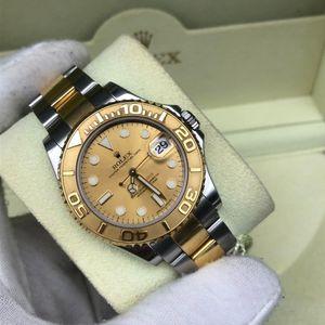 Rolex 劳力士游艇名仕型168623金色盘面自动机械腕表