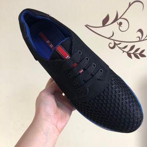 PRADA 普拉达黑色帆布夏季网面男士运动鞋