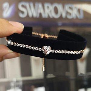 SWAROVSKI 施华洛世奇粉色海洋之心水晶手链