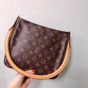 Louis Vuitton 路易·威登老花圆柄手提单肩包