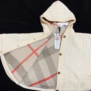 Burberry 博柏利宝宝羊毛针织斗篷外套