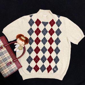 Burberry 博柏利彩色菱格纹羊毛针织衫
