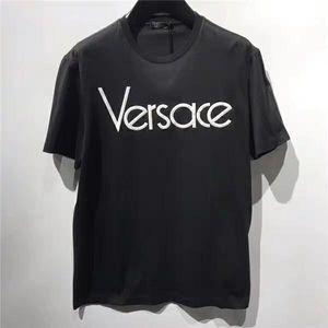 Versace 范思哲男士VRAE刺绣LOGO百搭修身短袖t恤