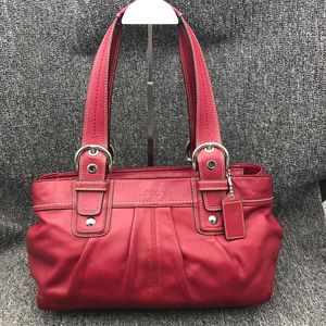 COACH 蔻驰女士红色手提包