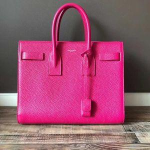Yves Saint Laurent 伊夫·圣罗兰玫红手提包