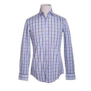 HUGO BOSS 雨果博斯蓝白格纹时尚休闲衬衫