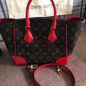 Louis Vuitton 路易·威登小号老花拼红手提包