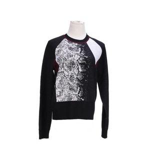 Calvin Klein 卡尔文·克莱恩经典黑白艺术拼色羊毛针织衫